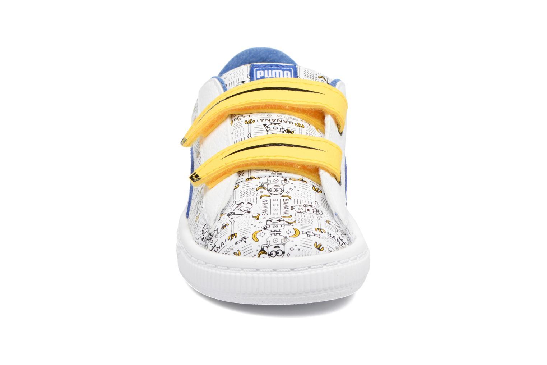 Baskets Puma Minions Basket V Inf Blanc vue portées chaussures
