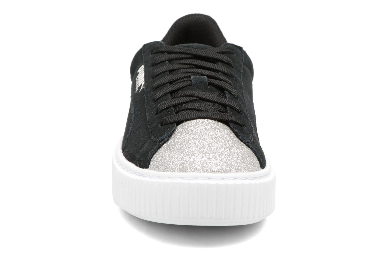 PS Suede Platform Glam/Jr Suede Platform Glam Black/silver