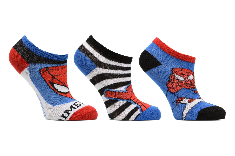 Chaussettes Basses Lot de 3 Spiderman Bleu