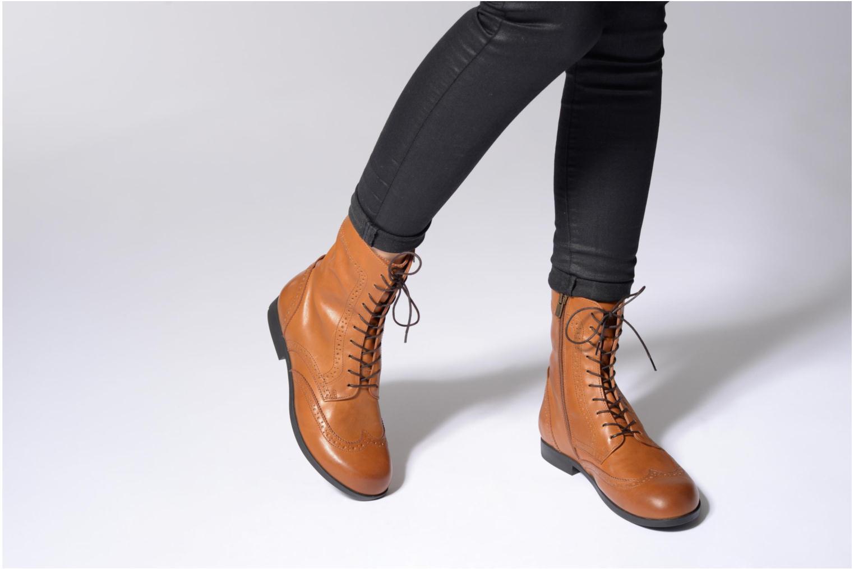 Bottines et boots Birkenstock Laramie Marron vue bas / vue portée sac