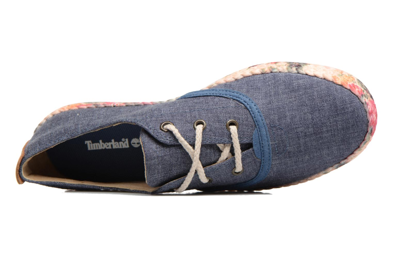 Baskets Timberland Casco Bay Fabric Oxford Bleu vue gauche