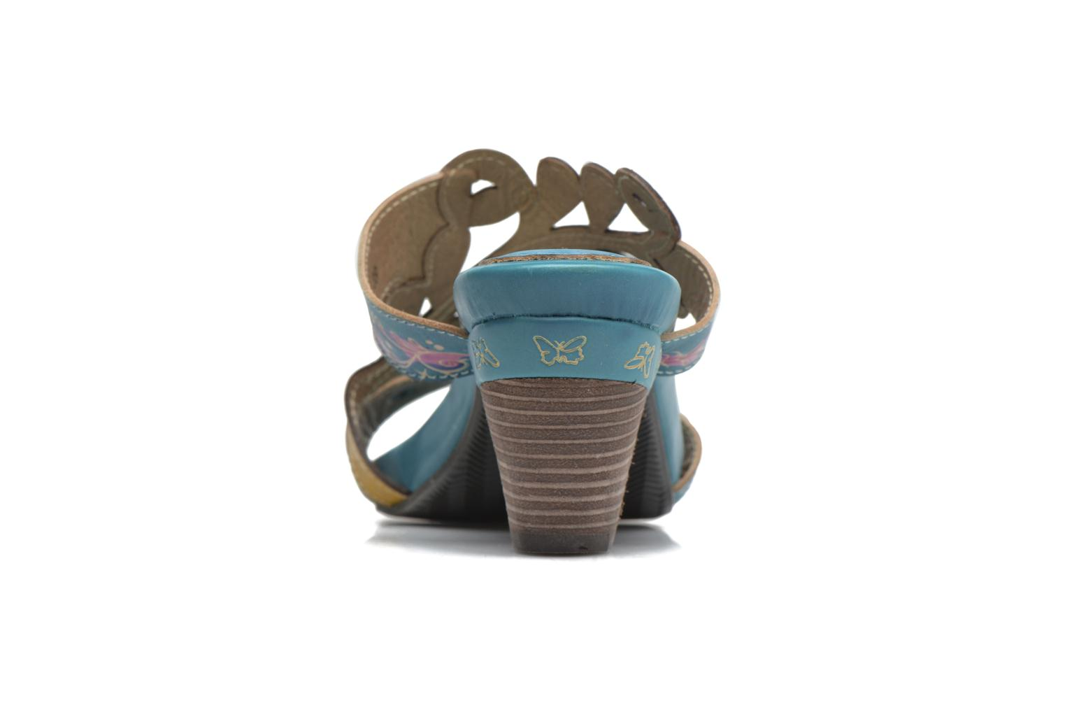 Mules & clogs Laura Vita Verjus Blue view from the right