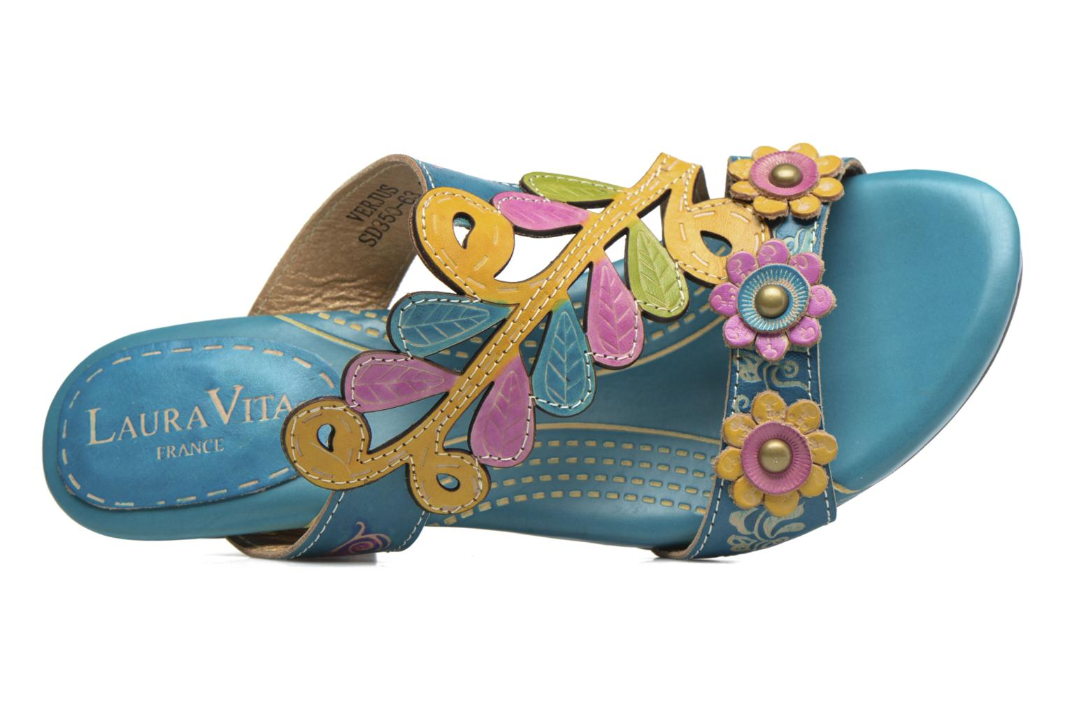 Mules & clogs Laura Vita Verjus Blue view from the left