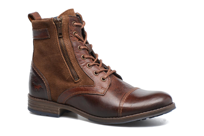 mustang shoes maburgat (brown) - ankle boots chez sarenza (309402)