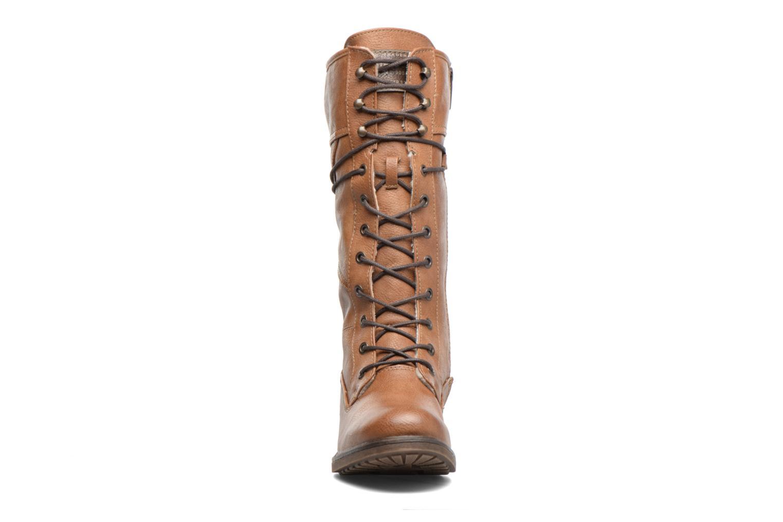 Bottines et boots Mustang shoes Plipse Marron vue portées chaussures