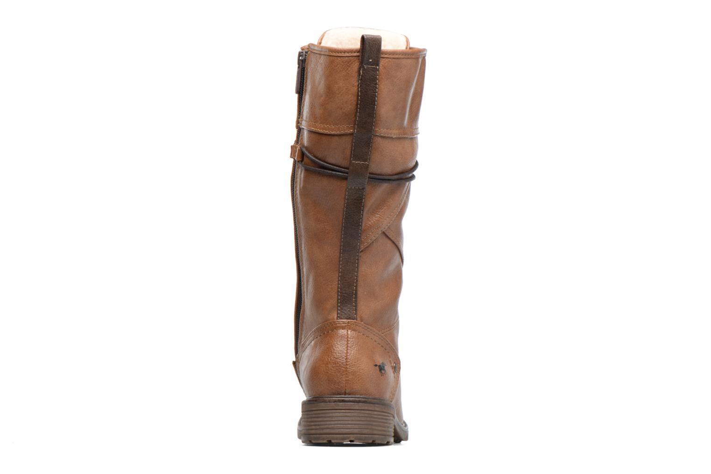 Bottines et boots Mustang shoes Plipse Marron vue droite