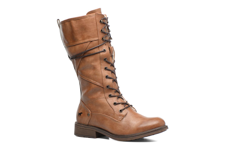 Bottines et boots Mustang shoes Plipse Marron vue détail/paire