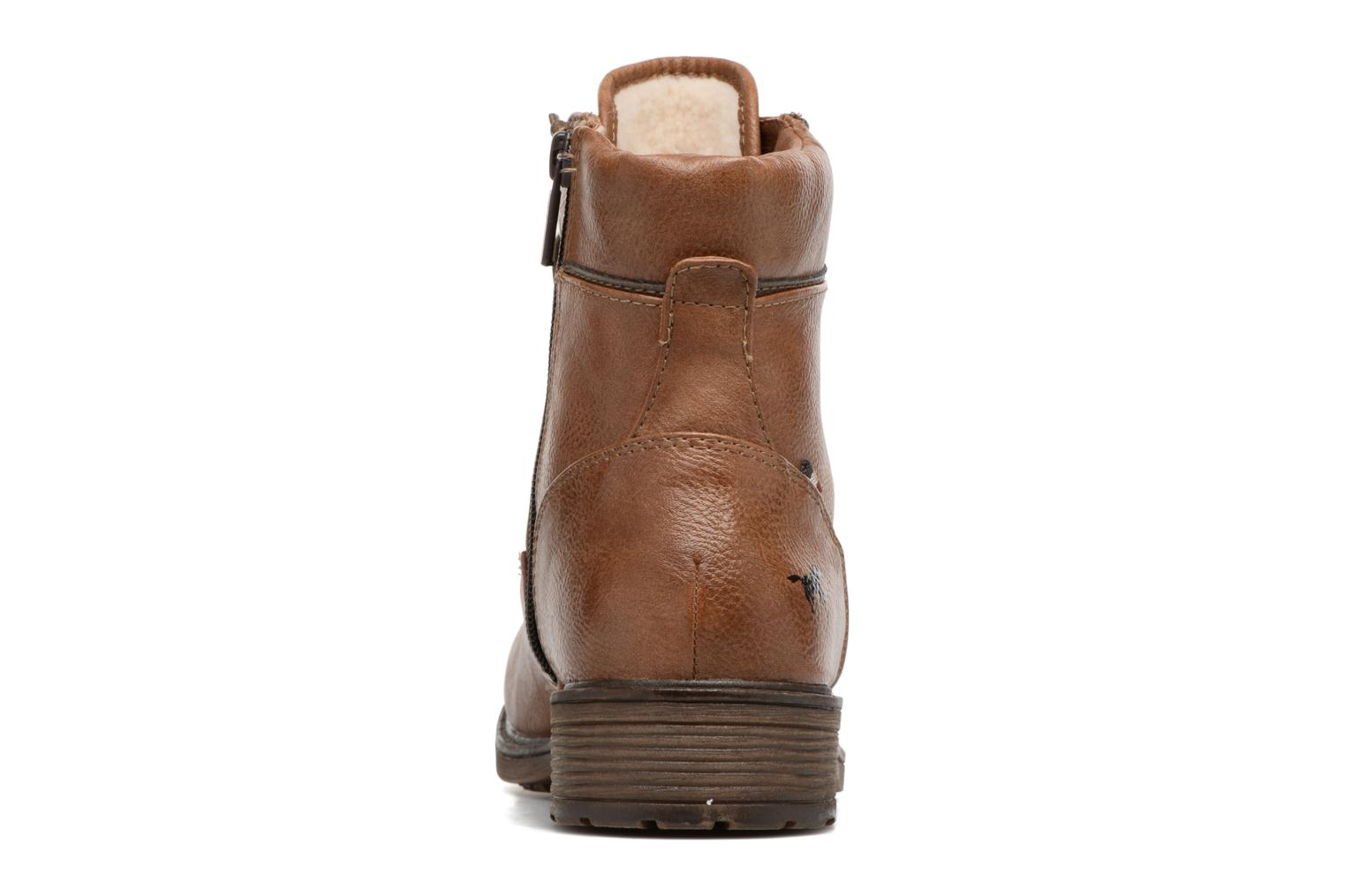 Ankle boots Mustang shoes Madaner Brown view from the right