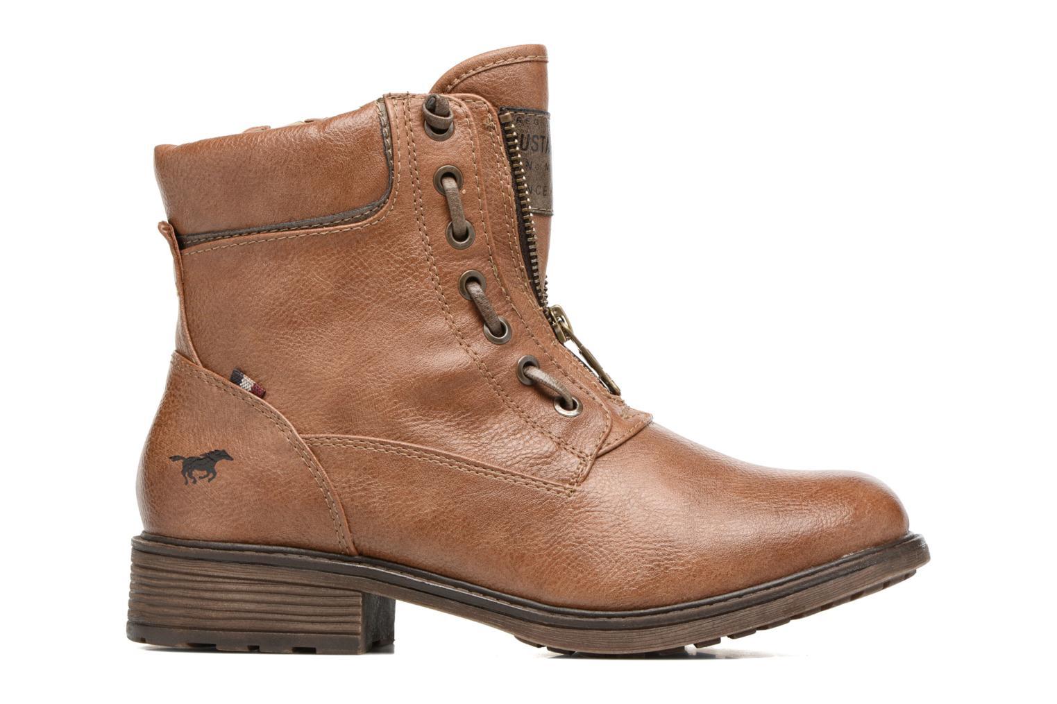 Ankle boots Mustang shoes Madaner Brown back view