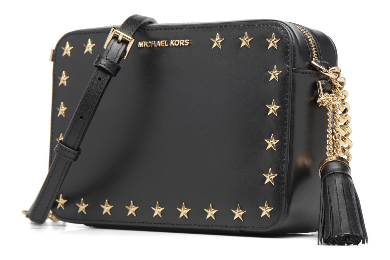 Bolsos de mano Michael Michael Kors GIN NY MD CAMERA BAG ETOILES Negro vista del modelo