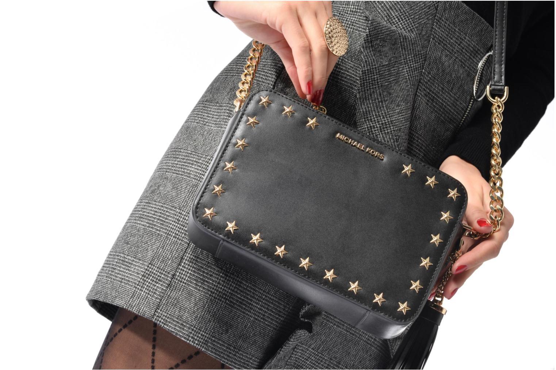 Bolsos de mano Michael Michael Kors GIN NY MD CAMERA BAG ETOILES Negro vista de arriba