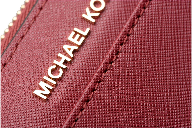 Marroquinería pequeña Michael Michael Kors Portefeuille Pocket ZA Continental Vino vista lateral izquierda
