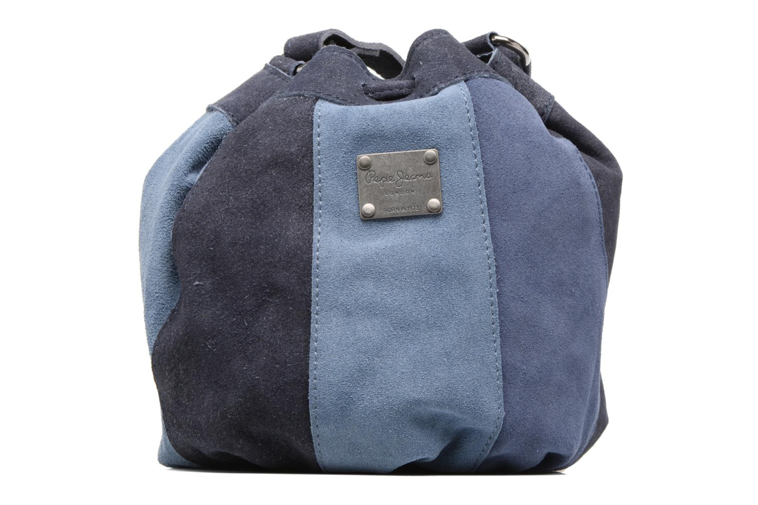 Sacs à main Pepe jeans KESHA Suede leather bag Bleu vue face