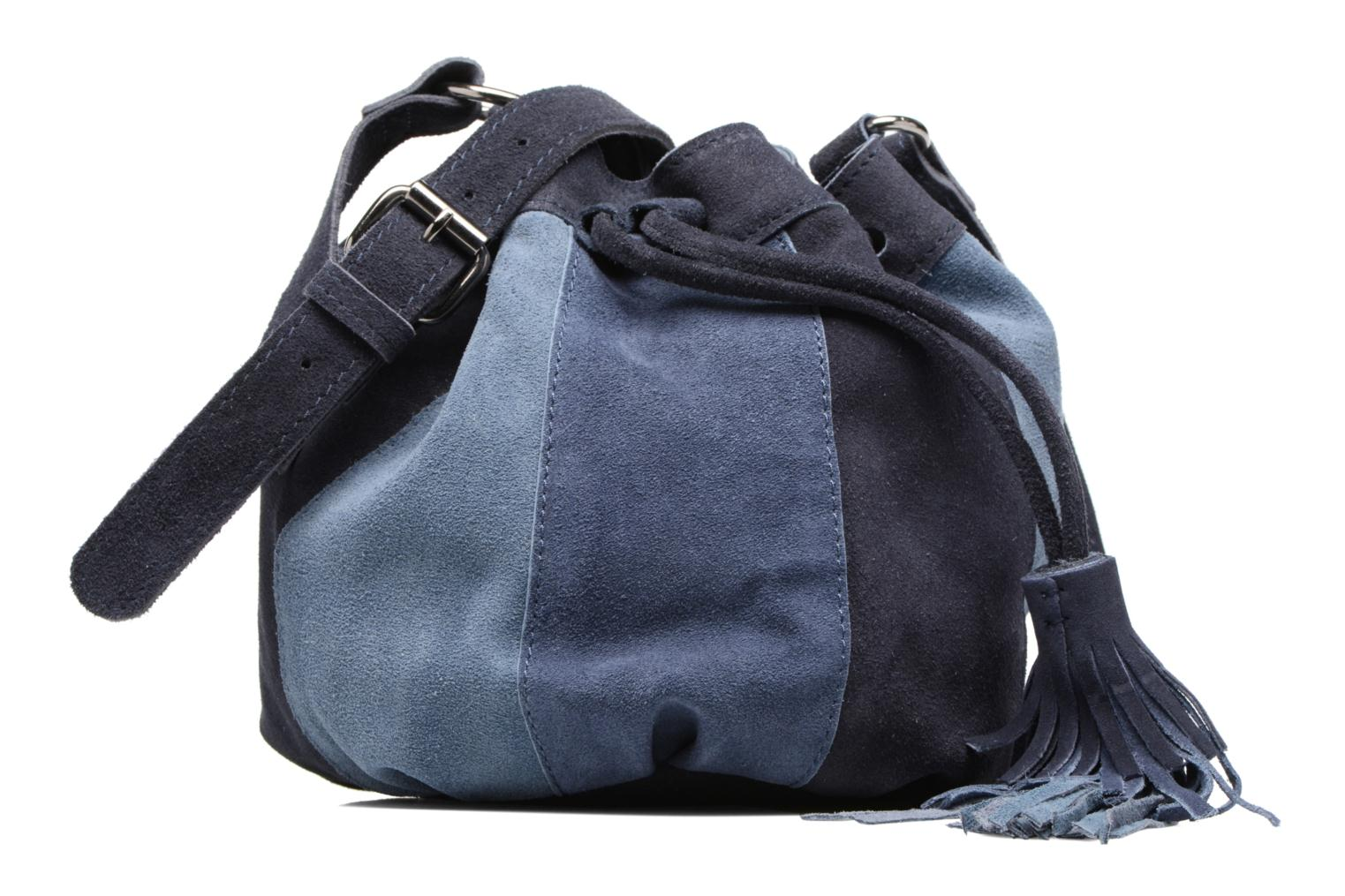 Sacs à main Pepe jeans KESHA Suede leather bag Bleu vue détail/paire