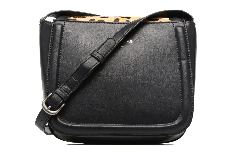 Sacs à main Pepe jeans TATY Crossbody Suede leather bag Noir vue face