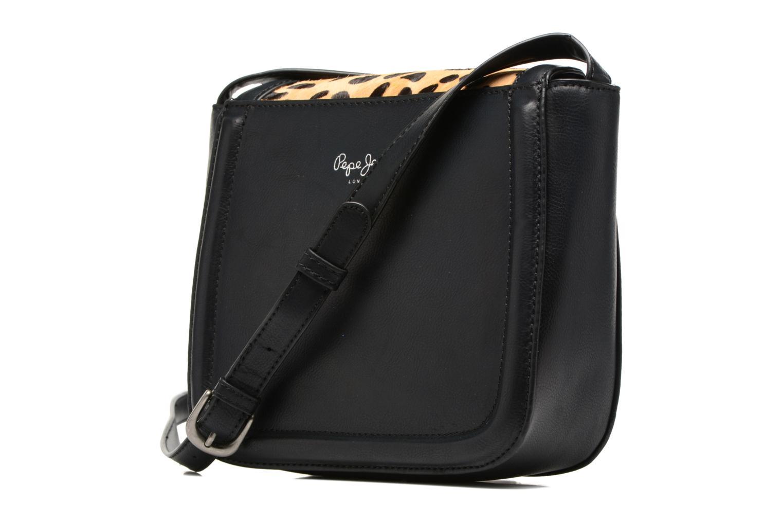 TATY Crossbody Suede leather bag Black