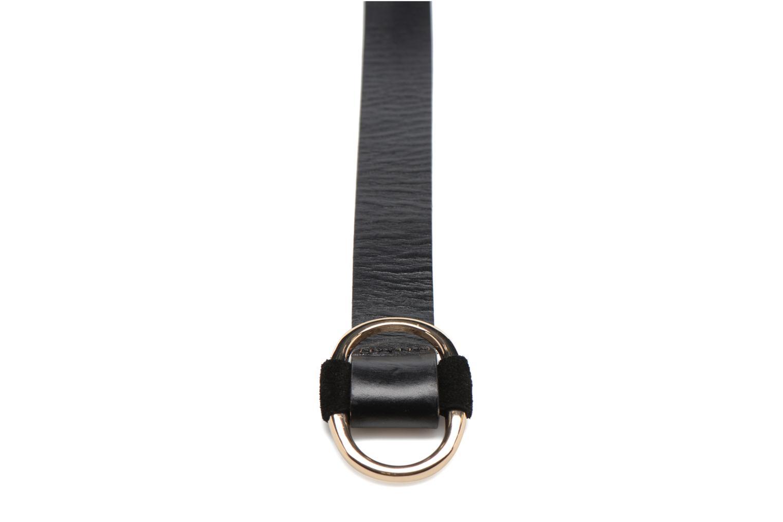Ceintures Pieces LARA Leather belt 25mm Noir vue portées chaussures