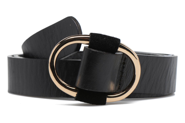 Ceintures Pieces LARA Leather belt 25mm Noir vue détail/paire