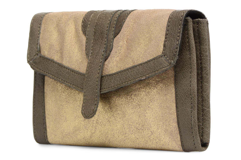 RIKKE Leather wallet Kaki