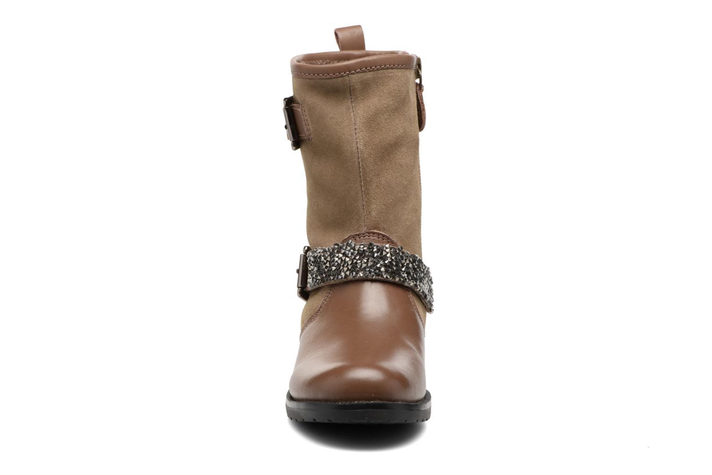 Bottes Gioseppo Ceske Marron vue portées chaussures