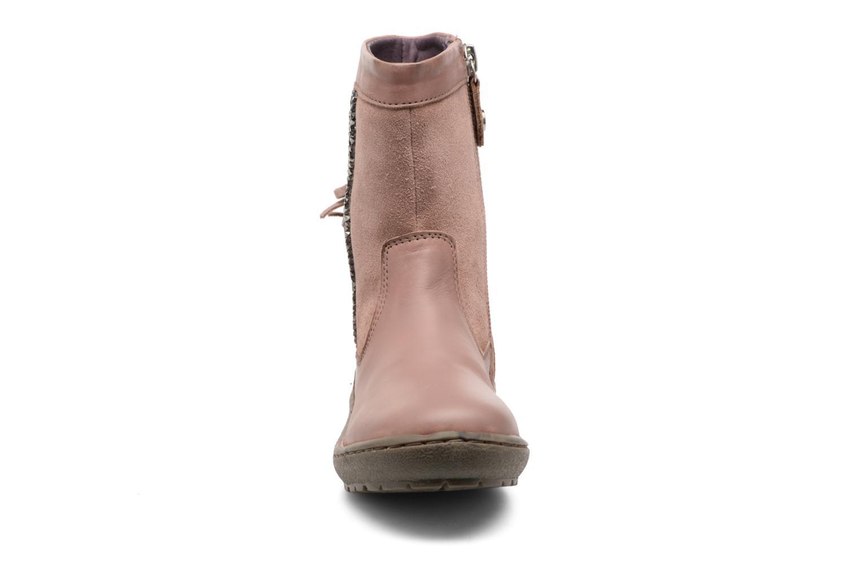 Bottes Gioseppo Chilton Rose vue portées chaussures