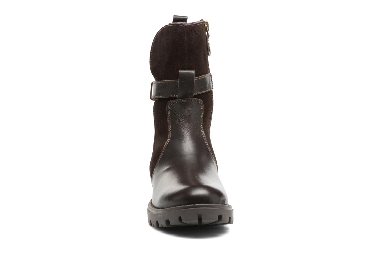 Bottes Gioseppo Diversite Marron vue portées chaussures
