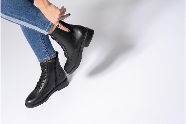 Bottines et boots Steve Madden Officer Noir vue bas / vue portée sac