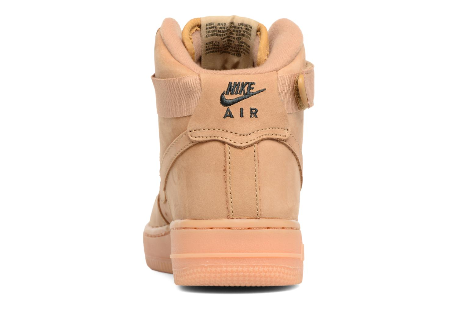 Trainers Nike Air Force 1 High Wb (Gs) Brown view from the right