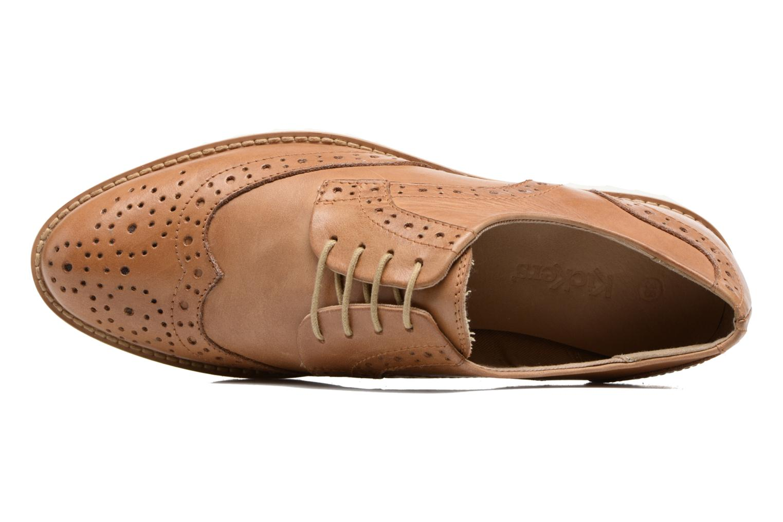 Chaussures à lacets Kickers Pytch Marron vue gauche