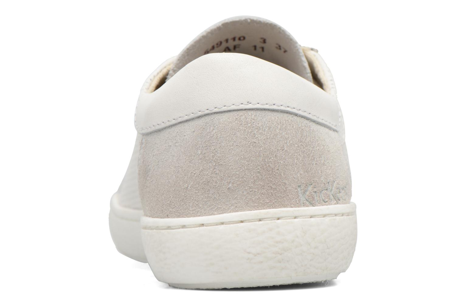 Baskets Kickers Real Blanc vue droite