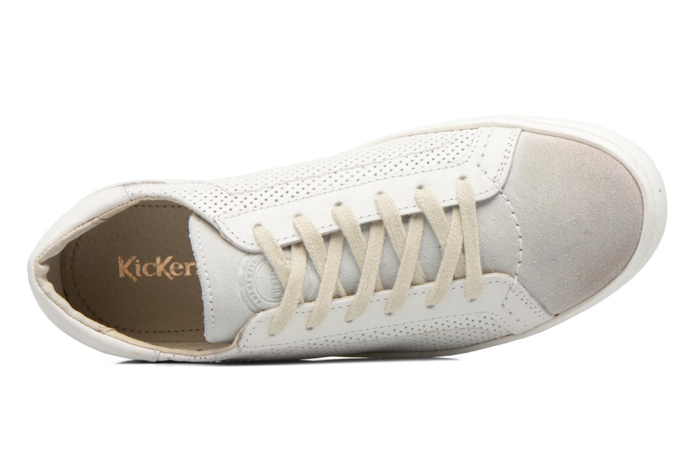 Baskets Kickers Real Blanc vue gauche