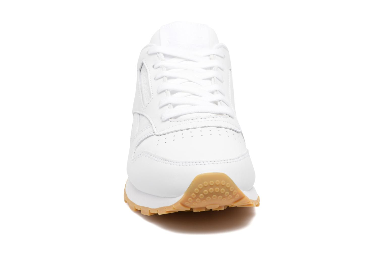 Baskets Reebok Cl Lthr Met Blanc vue portées chaussures
