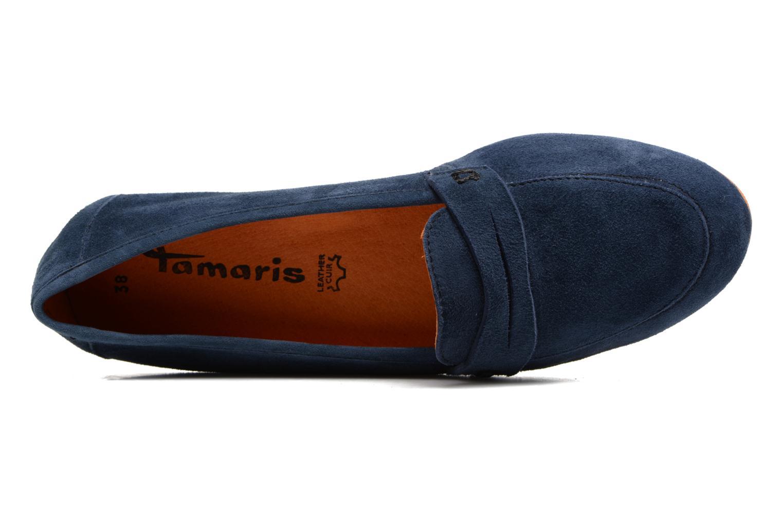 Mocassins Tamaris Slippa Bleu vue gauche