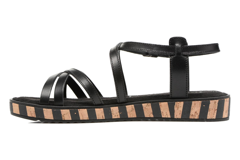 Sandales et nu-pieds Tamaris Zabra Noir vue face
