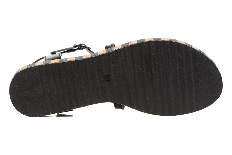 Sandales et nu-pieds Tamaris Zabra Noir vue haut