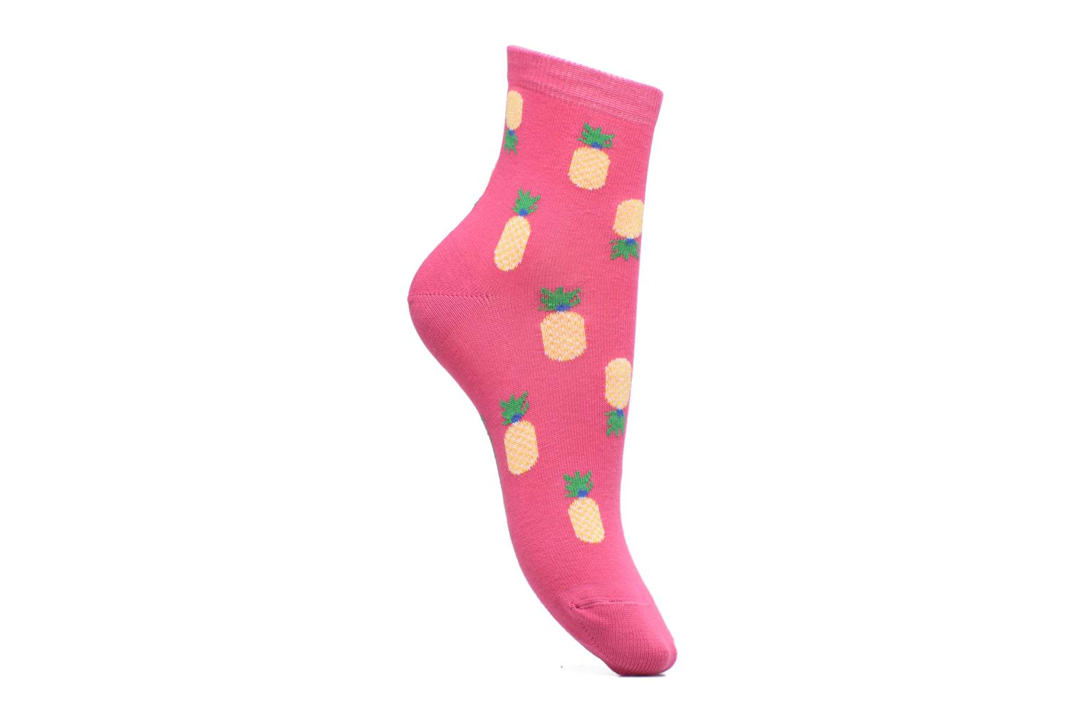 Chaussette Femme Ananas Coton Rose