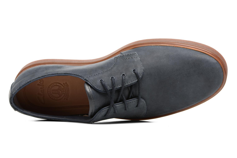 Navy leather Clarks Calderon Lace (Bleu)