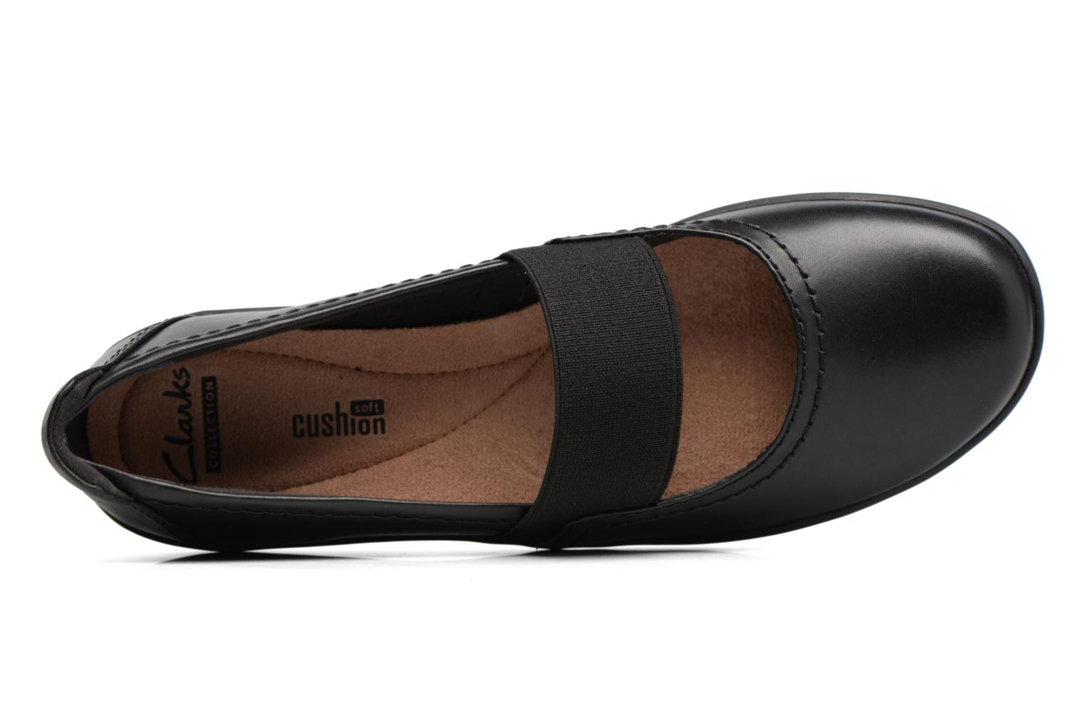 Ballet pumps Clarks Medora Ally Black view from the left