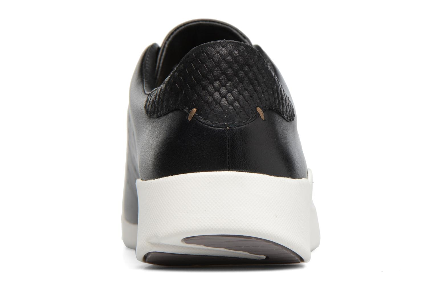 Black leather Clarks Tri Abby (Noir)