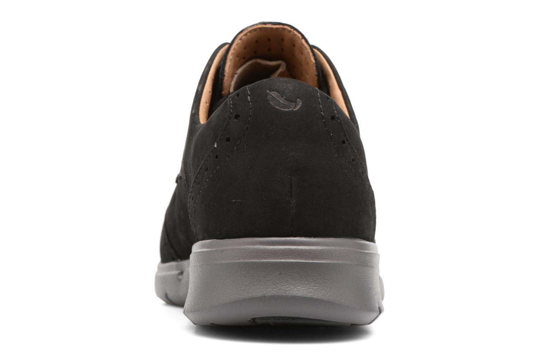 Chaussures à lacets Clarks Un Hinton Noir vue droite