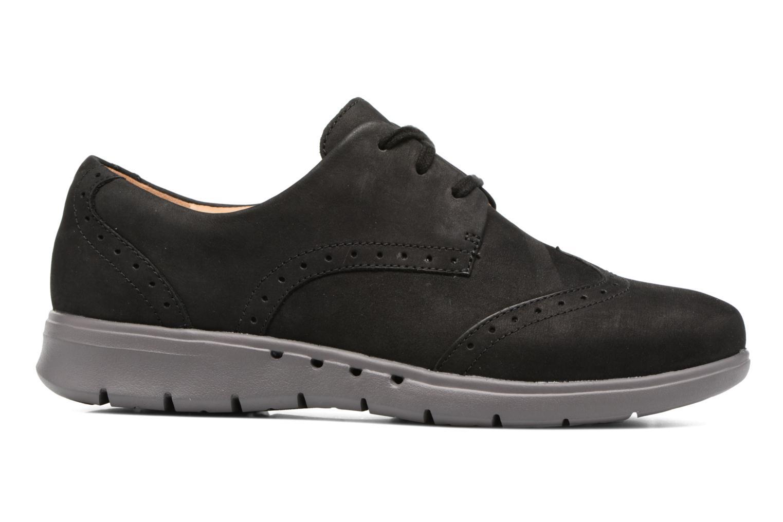 Chaussures à lacets Clarks Un Hinton Noir vue derrière