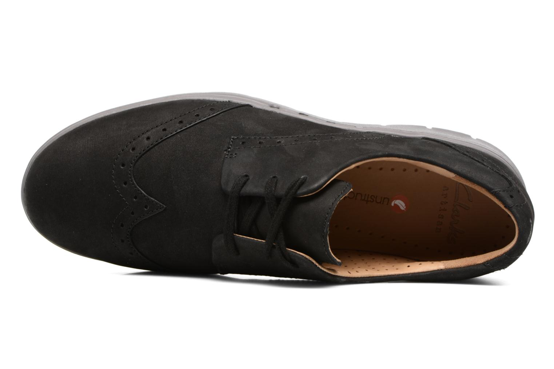 Chaussures à lacets Clarks Un Hinton Noir vue gauche