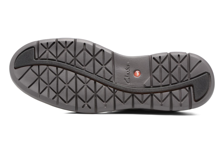 Chaussures à lacets Clarks Un Hinton Noir vue haut