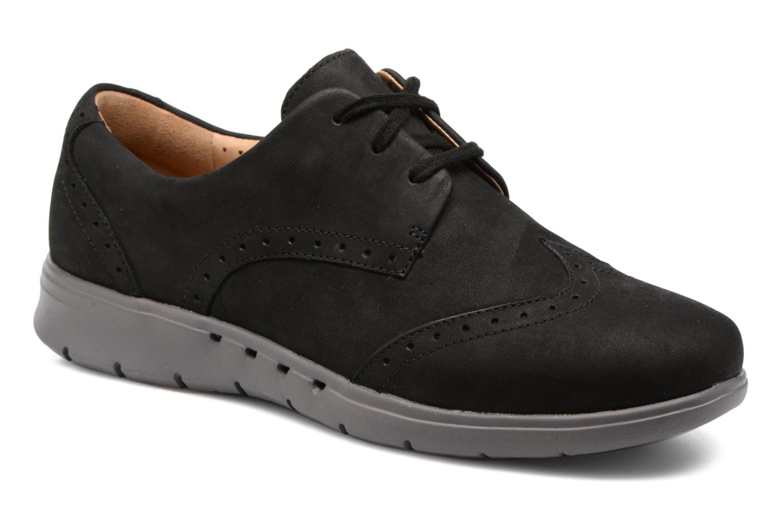 Chaussures à lacets Clarks Un Hinton Noir vue détail/paire