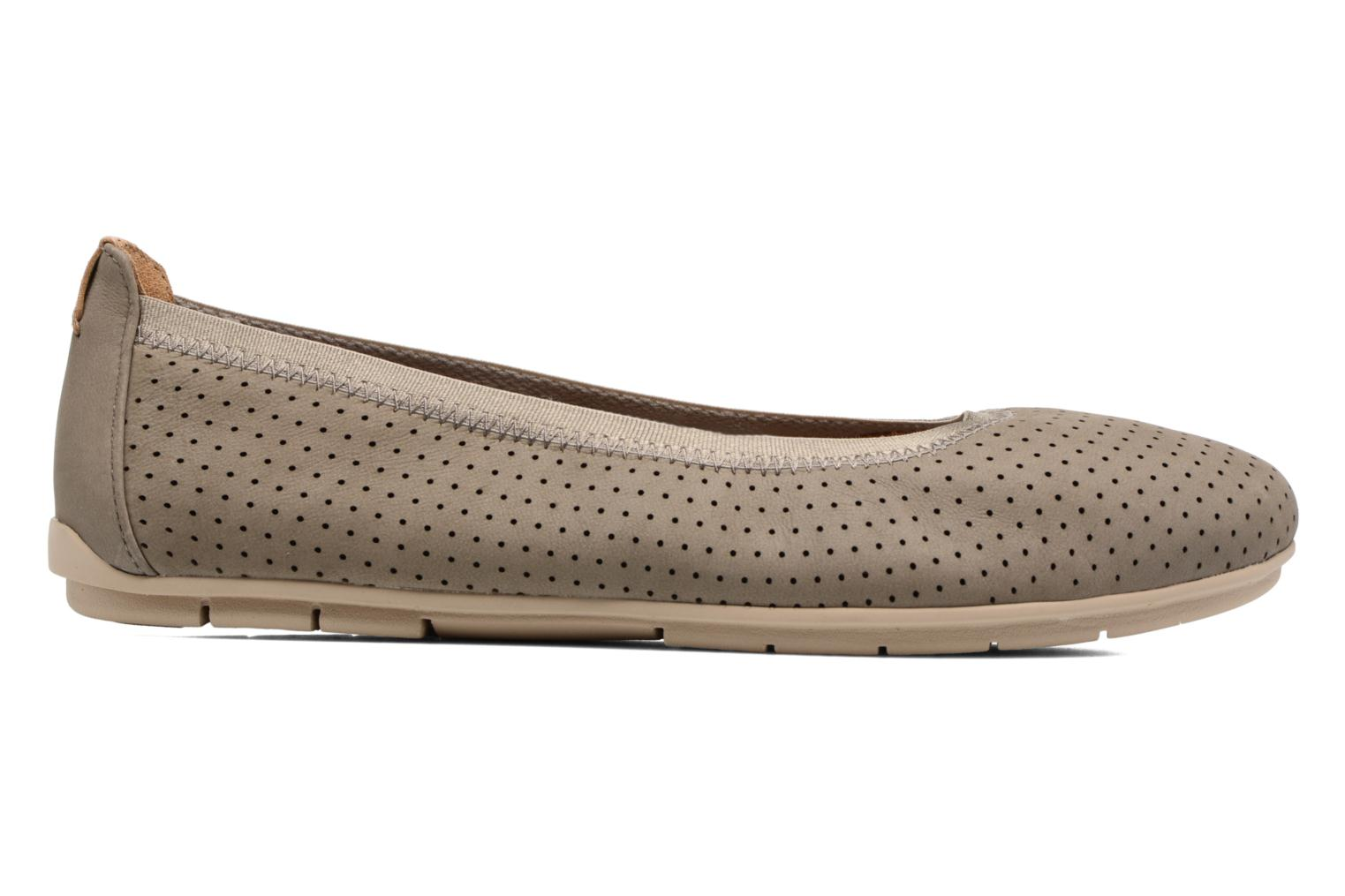 Ballet pumps Clarks Un Tract Grey back view