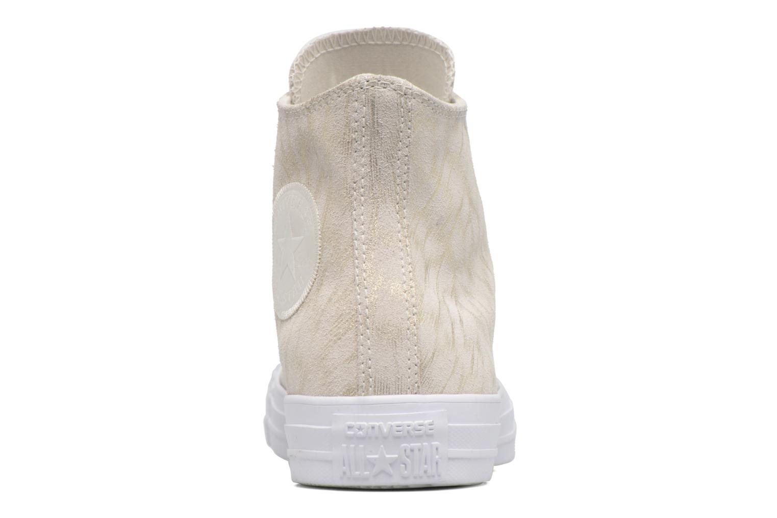 Sneakers Converse Chuck Taylor All Star Shimmer Suede Hi Beige rechts