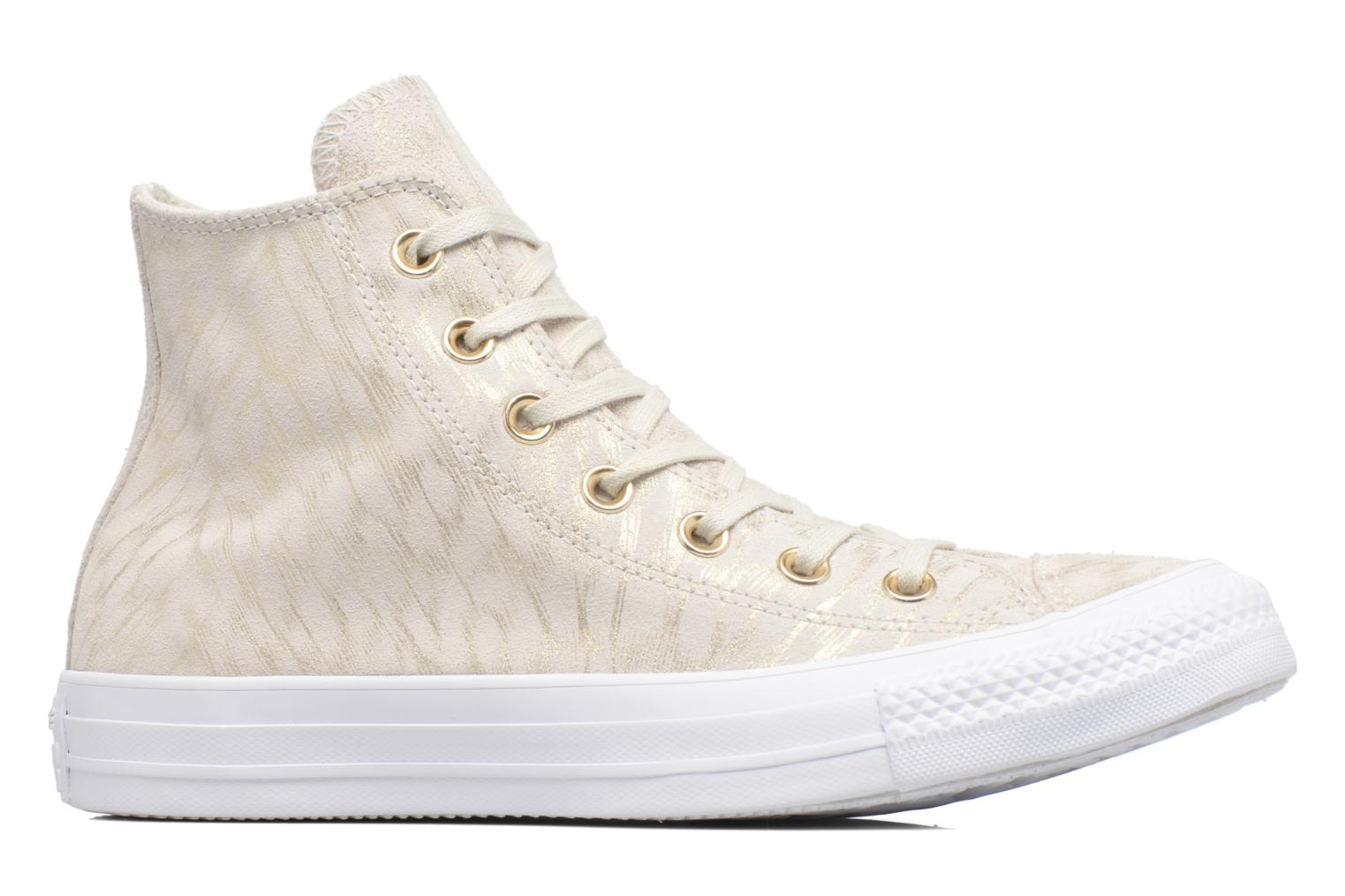 Sneakers Converse Chuck Taylor All Star Shimmer Suede Hi Beige achterkant