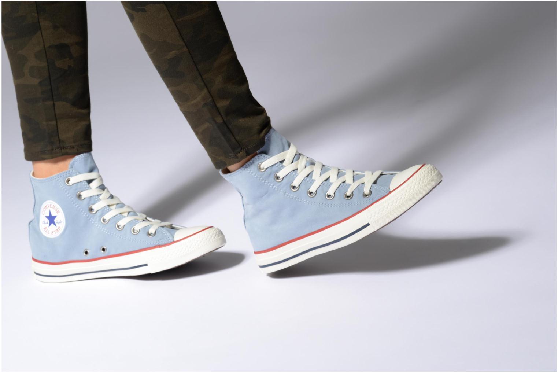 Baskets Converse Chuck Taylor All Star Ombre Wash Hi W Noir vue bas / vue portée sac