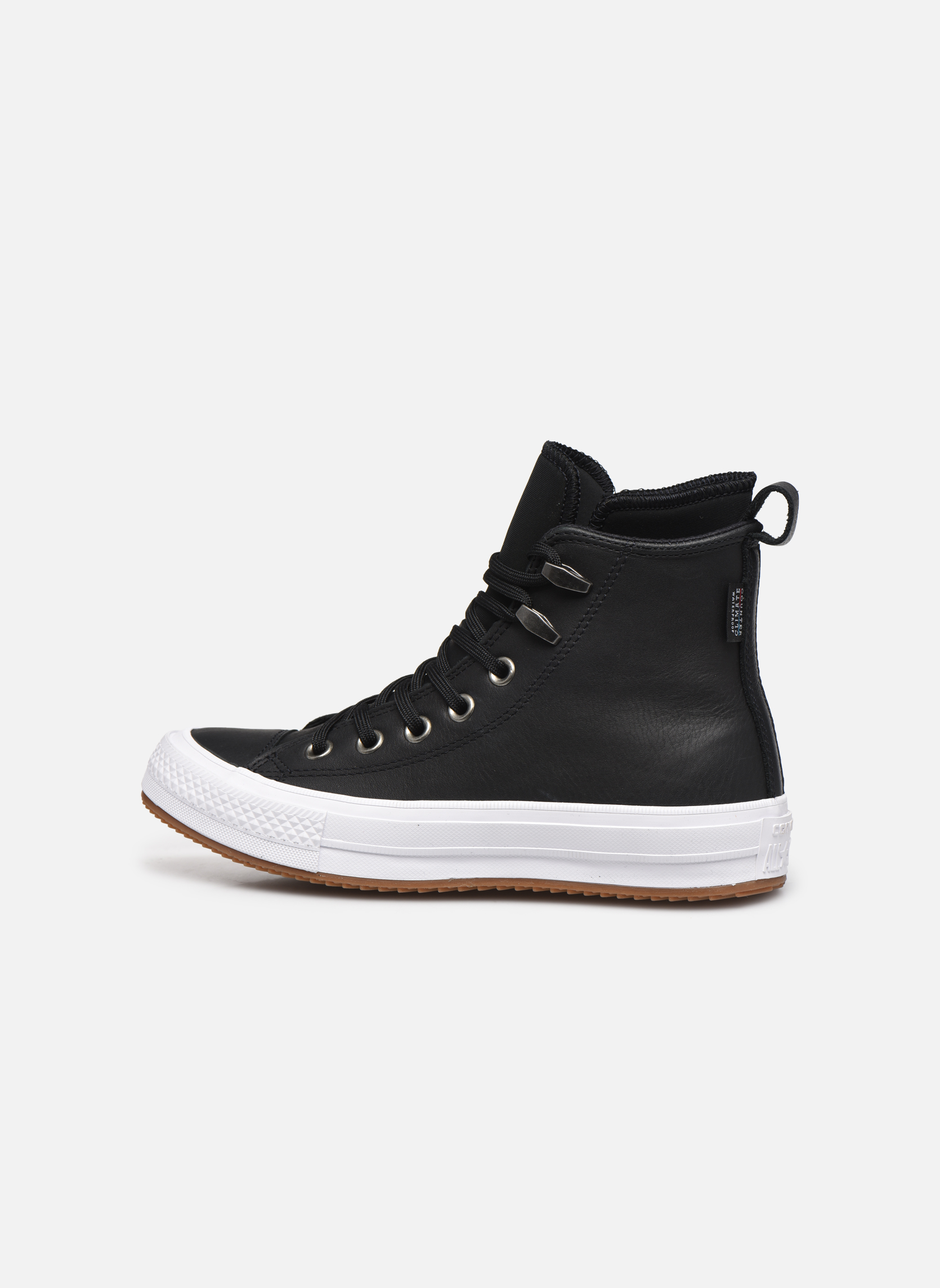Baskets Converse Chuck Taylor WP Boot WP Leather Hi Noir vue face