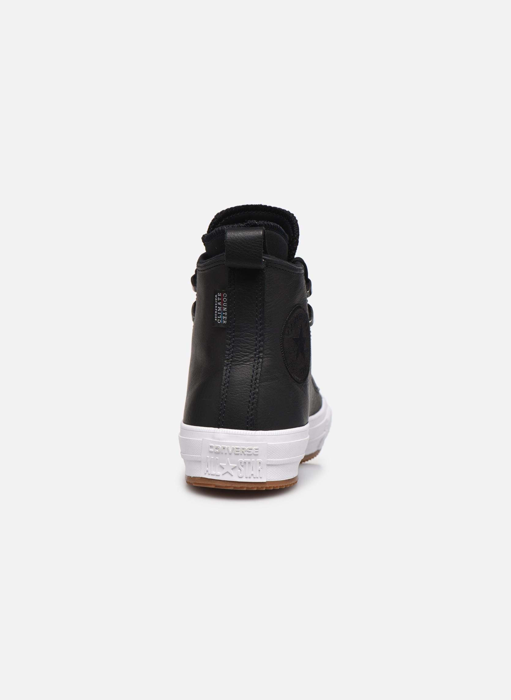 Black/black/white Converse Chuck Taylor WP Boot WP Leather Hi (Noir)